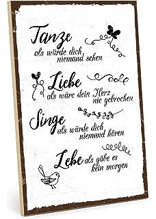 Typestoff Holzschild Mit Spruch Zuhause Schild Bild Im