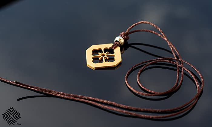 Amazon Gold Handmade Necklace Japanese Family Crest Called Mon