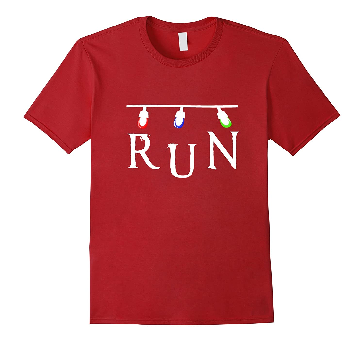 Run! Strange Christmas Lights T-Shirt - TV Show Shirts-ANZ - Anztshirt