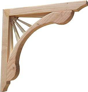 "product image for SamsGazebos Designer Wood Corbels, 2-pack, Sunburst, 16"" x 16"" x 1-5/8"""
