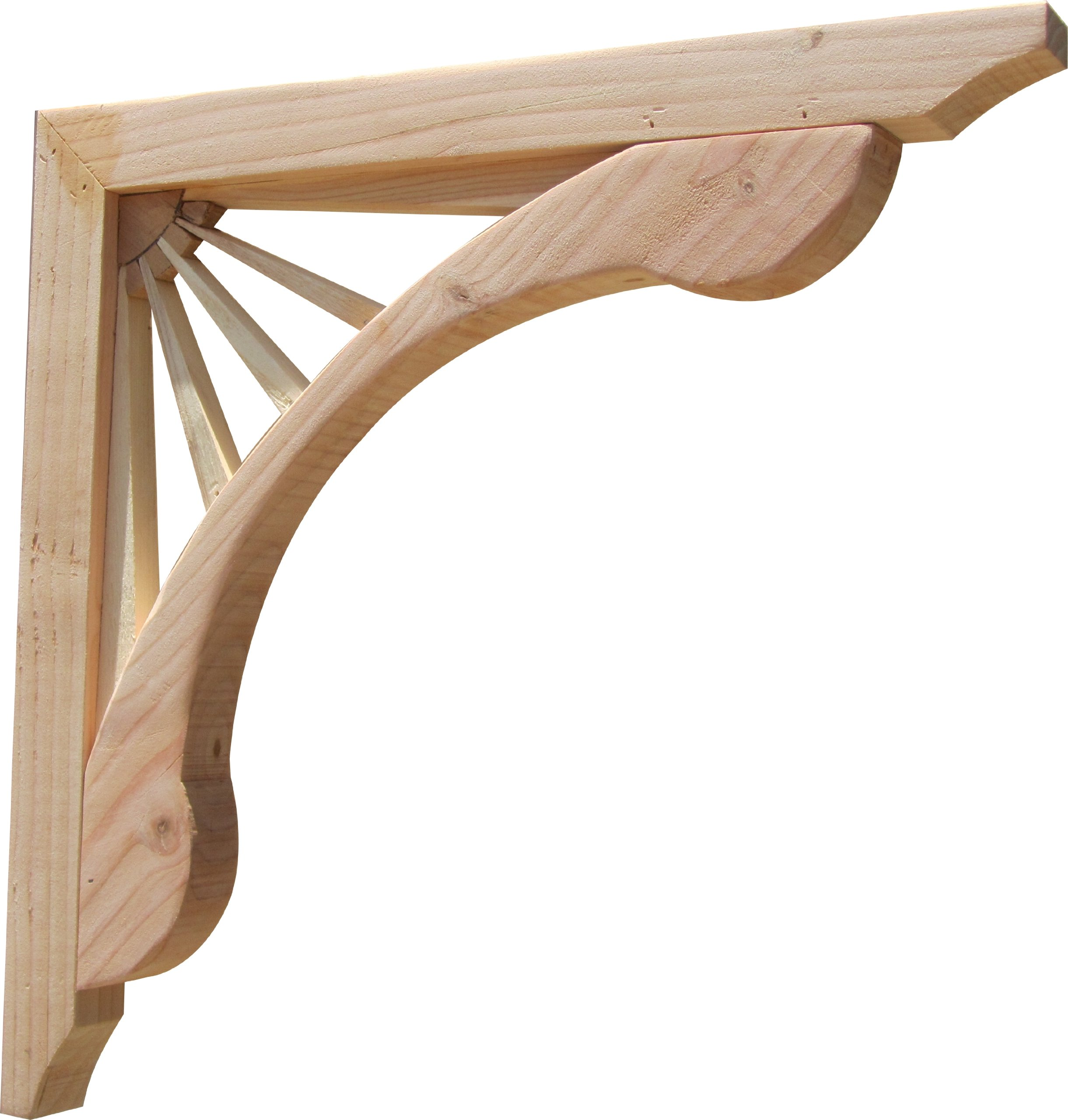 SamsGazebos Designer Wood Corbels, 2-pack, Sunburst, 16'' x 16'' x 1-5/8''