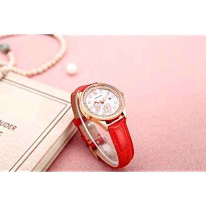 Comtex Lady Analog Wrist Watches Rose Tone Pattern with