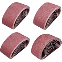 5-Pack United Abrasives-SAIT 58160 AOX 3 X 21 24 Grit Blue Line Sanding Belt