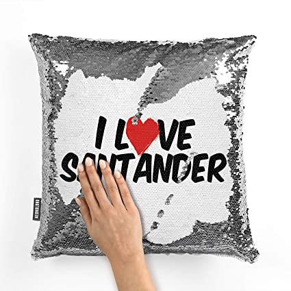 Amazon.com: NEONBLOND Mermaid Pillow Cover I Love Santander ...