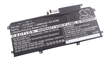 vhbw Litio polímero batería 3800mAh (11.4V) para Ordenador portátil Notebook ASUS Zenbook UX305FA