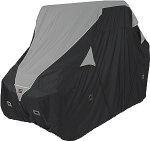 """Classic Accessories QuadGear Black/Grey QuadGear UTV Deluxe Storage Cover (For Crew Cab UTVs Up To 150""""L 66""""W 75""""H)"""