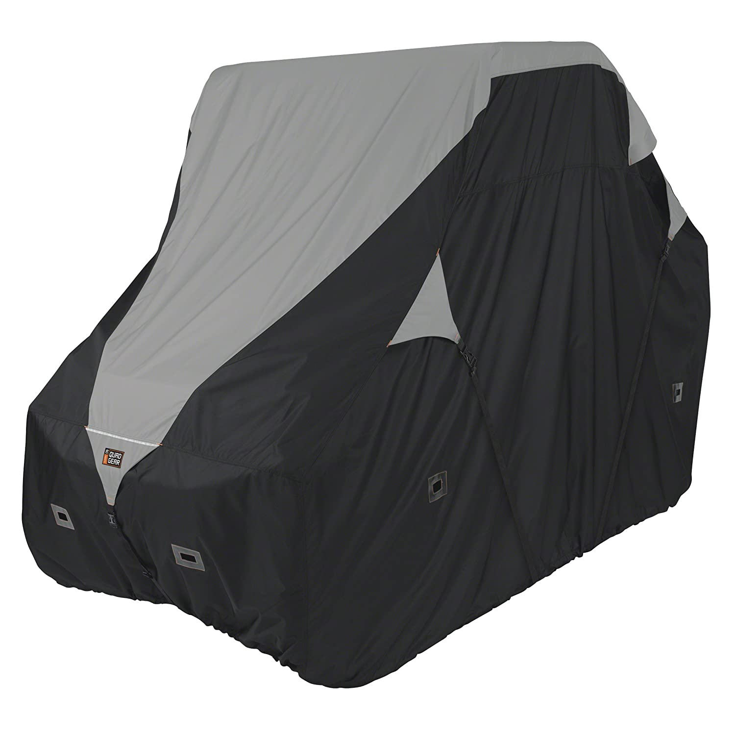 Classic Accessories 18-064-043801-00 Black/Grey QuadGear UTV Deluxe Storage Cover (For Mid Sized 2 Passenger UTVs Up To 113'L 60'W 70'H)