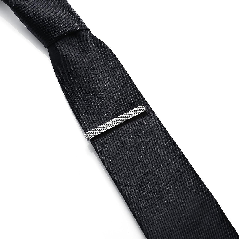 malla plata Talla normal Para Hombre Necktie Honey Bear Clip Pasador de corbata Acero inoxidable,Boda Negocio Regalo,5.4cm