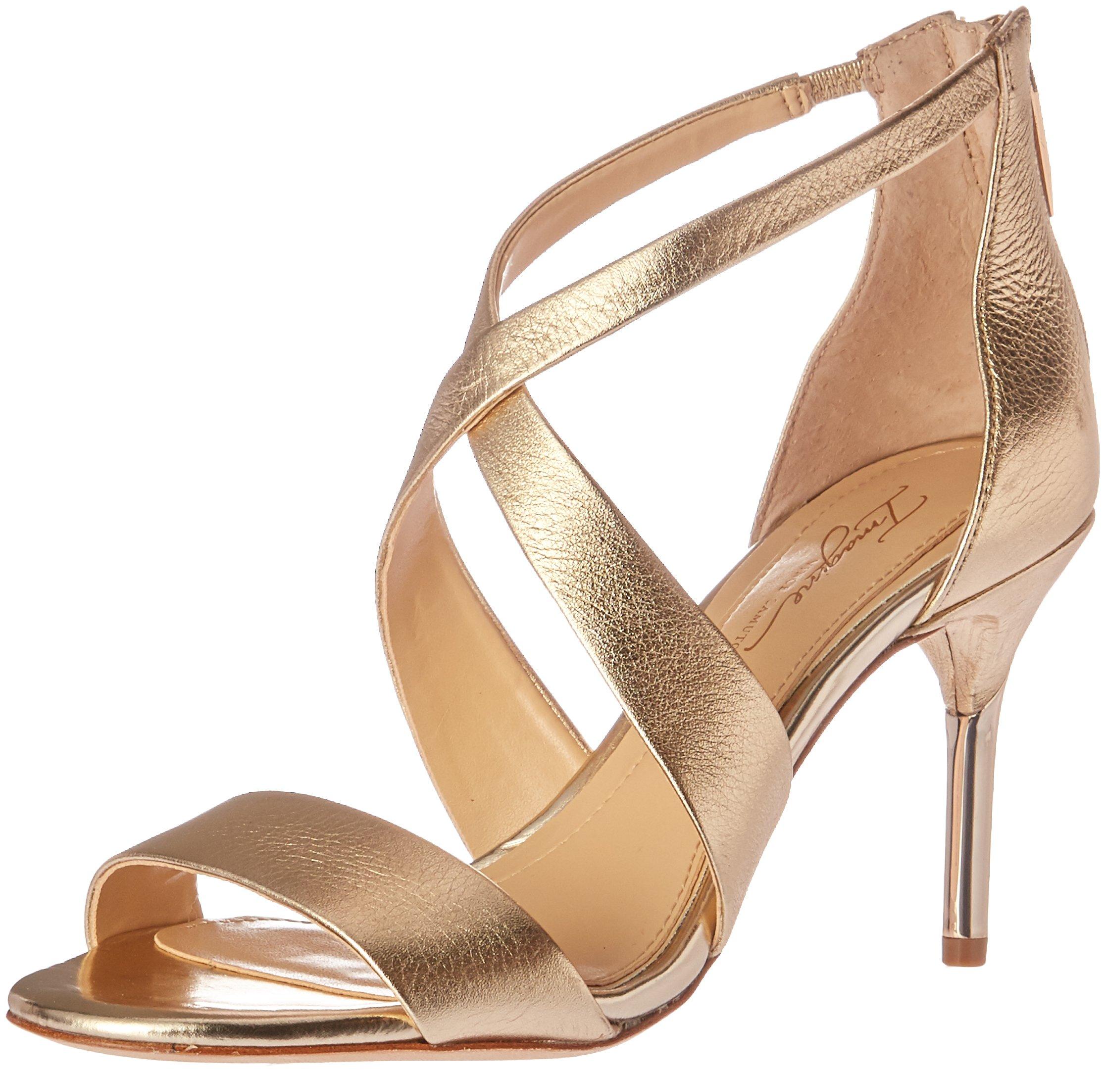 Imagine Vince Camuto Women's PASCAL2 Heeled Sandal, Soft Gold, 5.5 Medium US