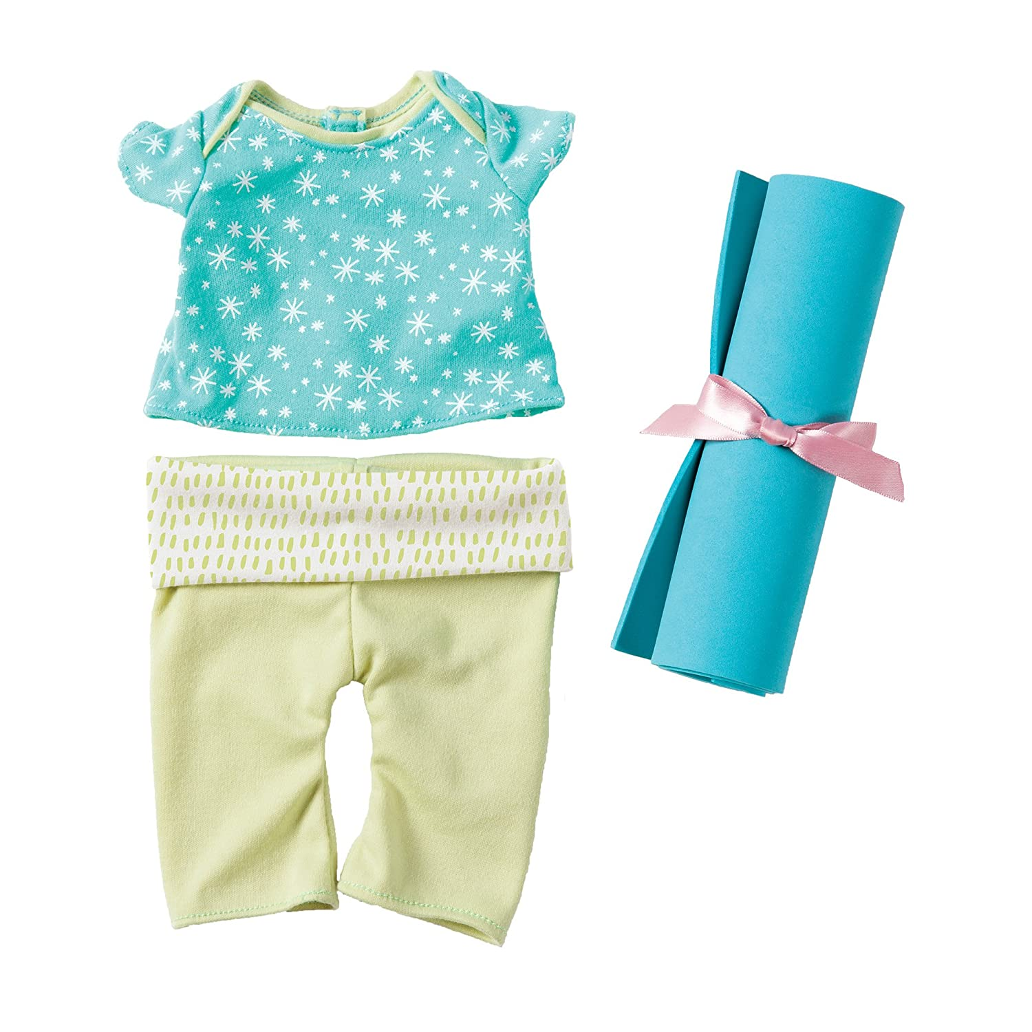 """Manhattan Toy Baby Stella Yoga Baby Doll Clothes and Mat for 15"""" Dolls"""