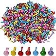 Pengxiaomei 500 Pcs Mini Brads, Metal Brad Paper Fastener for Scrapbooking Craft, Random Colors
