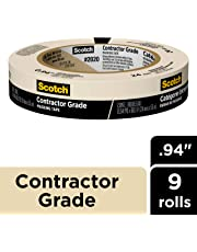 Scotch Masking Tape, Contractor Grade 24 mm (9 Rolls) - 2020