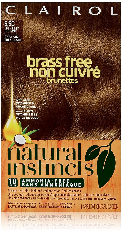 Amazon Natural Instincts Brass Free Brunettes 65c Lightest