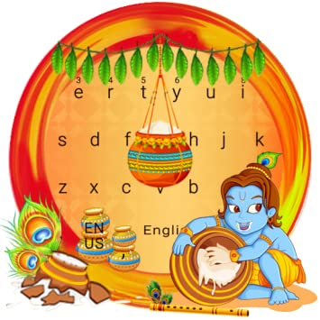 Amazon com: krishna janmashtami keyboard Theme: Appstore for