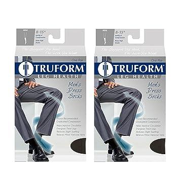 Truform Compression 8-15 mmHg Knee High Dress Style Socks Tan, X-Large