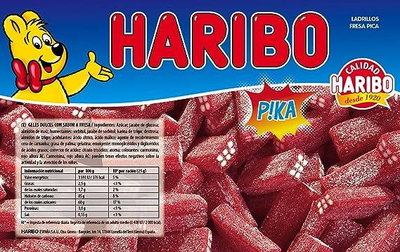 Haribo - Ladrillos Fresa Pica - Geles Dulces - 1 kg - [pack de 2 ...