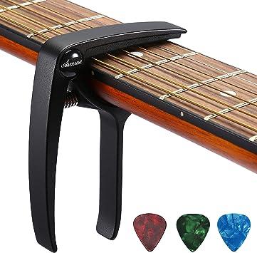 Asmuse Trigger Cejilla Guitarra Electricas Skeleton Capo para ...
