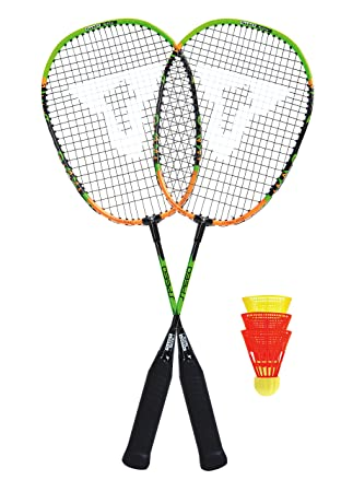 TALBOT TORRO SPEED BADMINTON SET SPEED 2200 2 Schläger Tasche 490112 3 Bälle