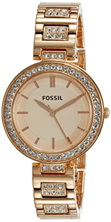 1e037f6bfbd Image Unavailable. Image not available for. Colour  Fossil Analog Rose Gold  Dial Women s Watch ...