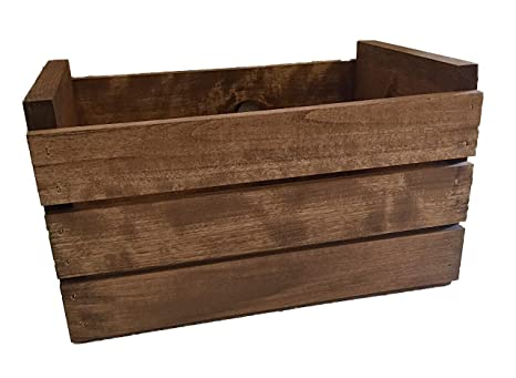 Amazoncom Darlastudio 66 45 Rpm Vinyl Record Storage Wood Crate