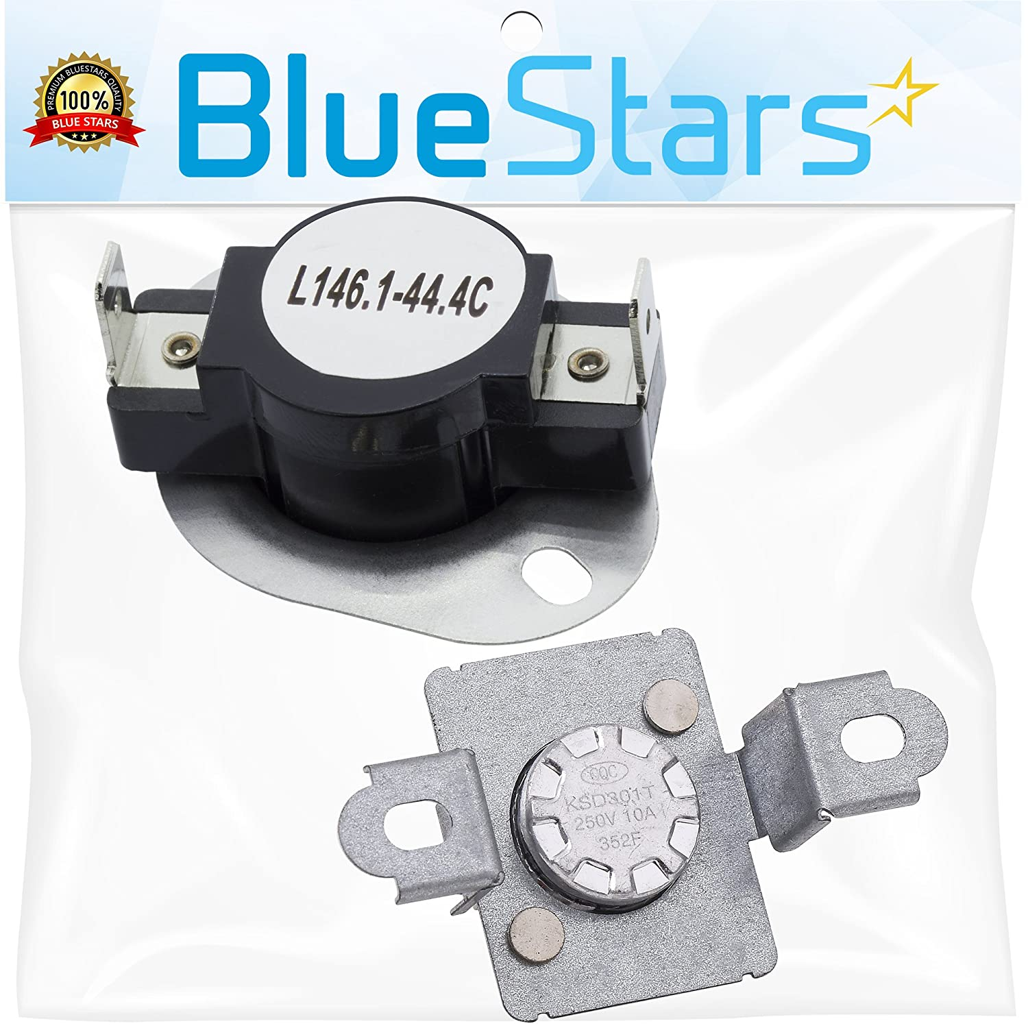 279973 Dryer Thermal Cut-Off Fuse Kit Replacement part by Blue Stars - Exact Fit for Whirlpool & Kenmore Dryer - Replaces 279973, 3391913, 8318314, AP3094323