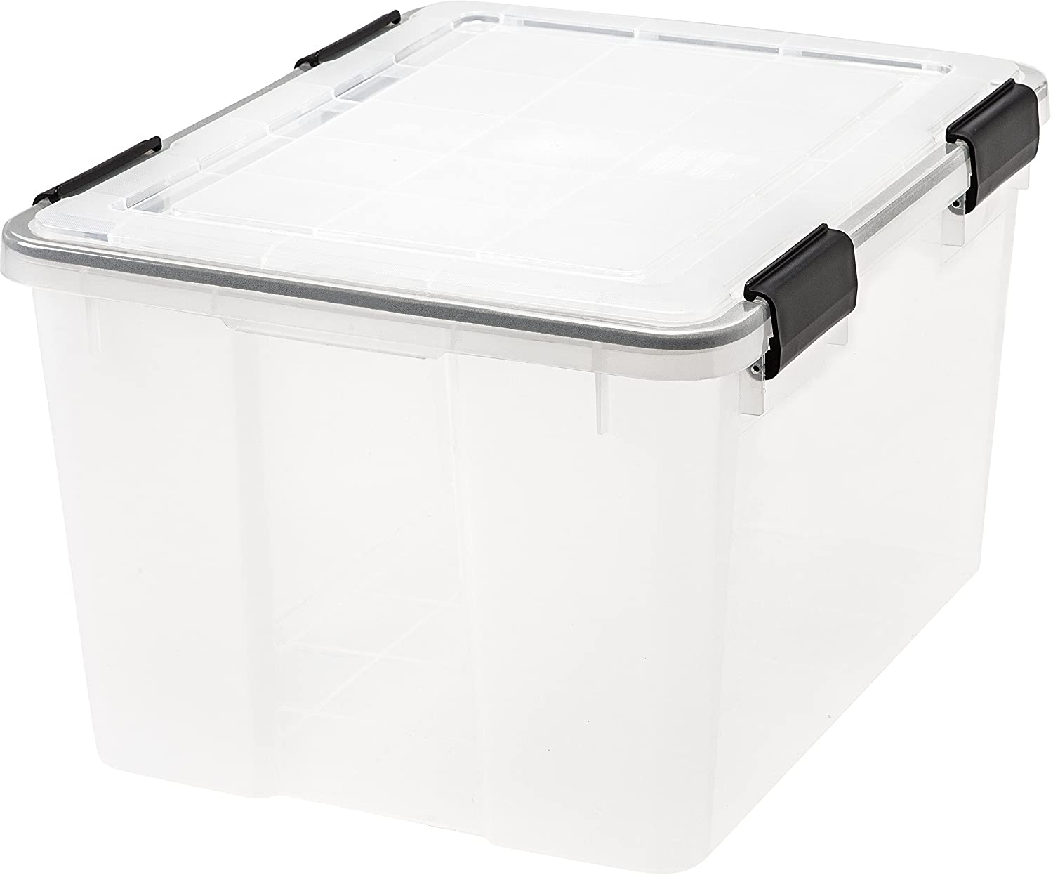 Amazon.com: IRIS 46 Quart WEATHERTIGHT Storage Box, Clear: Home U0026 Kitchen