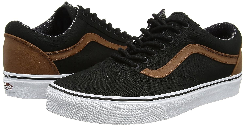 Vans Unisex Old Skool Classic Skate Shoes B01I22QS8U 6.5 D(M) US Mens / 8 B(M) US Womens|(C&l) Black/Material Mix