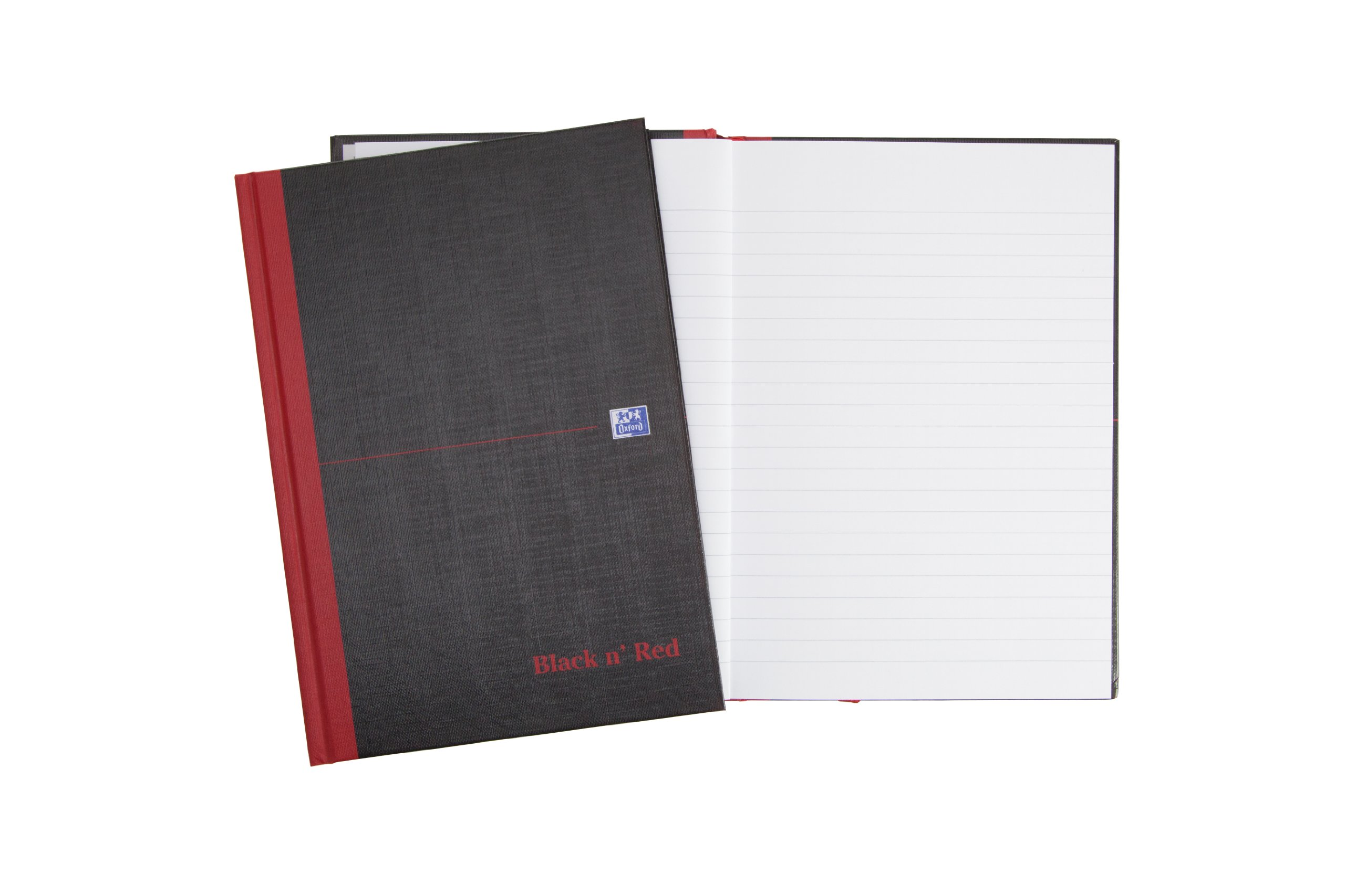 Oxford Black n' Red A4 192 Pages Matte Casebound Hard-Back Ruled Notebook (Pack of 5) Pack of 5 (A5) by Oxford (Image #5)