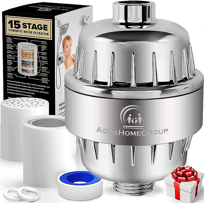 AquaHomeGroup 15 Stage Shower Filter - Best Shower Filter