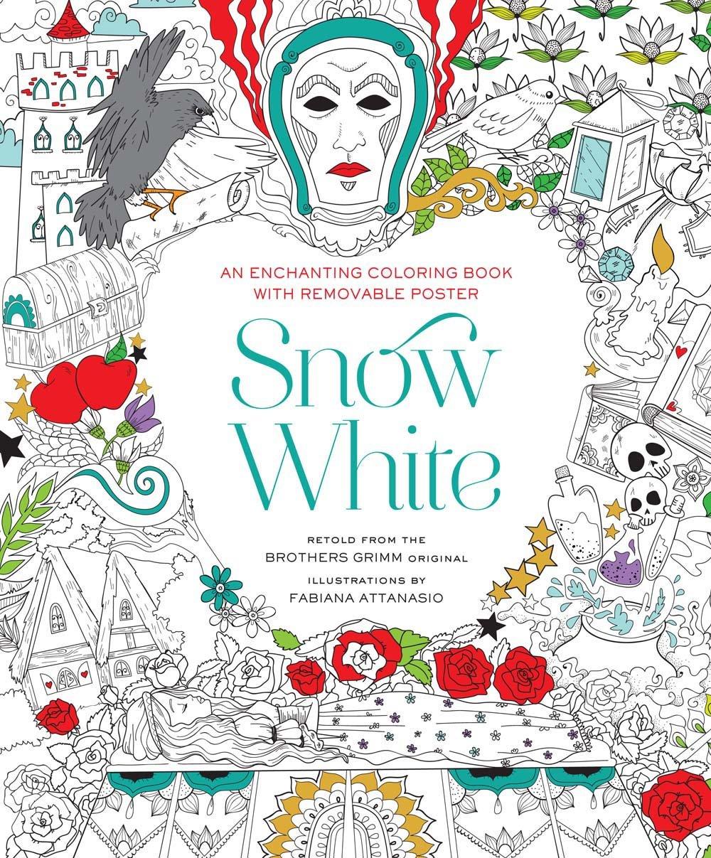 snow white coloring book fabiana attanasio 9781454920922 amazon