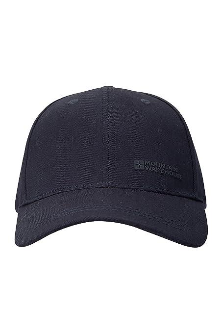 Mountain Warehouse Mens Baseball Cap - 100% Cotton Cap Hat, Twill Design,  Lightweight Hat, Breathable & Adjustable Hook & Loop Fastener - Ideal for