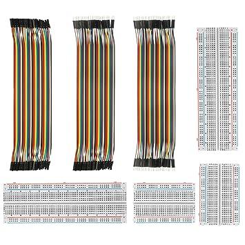 DEYUE 3 Set Standard Jumper Wires Plus 3 Set of Solderless Prototype Breadboa...