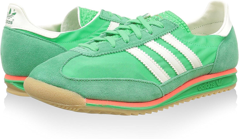 adidas SL 72, Zapatillas-ADIDAS-B24808-Hombre para Hombre, Verde/Blanco/Rojo, 38 EU: Amazon.es: Zapatos y complementos