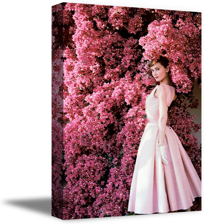 Funny Ugly Christmas Sweater Audrey Hepburn Canvas Gift Pink Mood Audrey Hepburn Photo Portrait Fine Art for Home Decor 8
