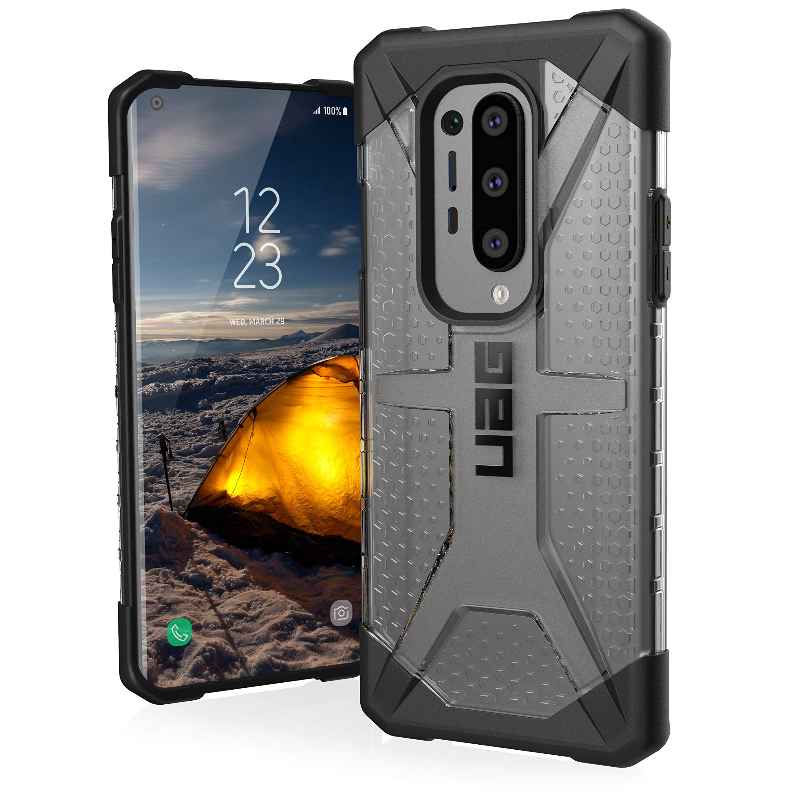 Urban Armor Gear Plasma case OnePlus 8 Pro Protective case (Wireless Charging Compatible Cover, Shockproof Mobile Phone case, Ultra Slim Bumper) - ice (Transparent)