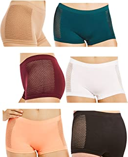 657e5ac36f75 WackySassy Women's Seamless Panty Boyshorts Stretch Classy Sexy Underwear  Multi-3,6 and 12