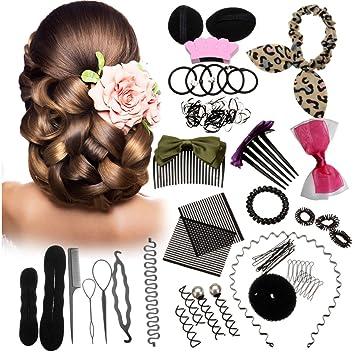 amazon com 45pcs hair styling kit luckyfine hairdresser magic hair