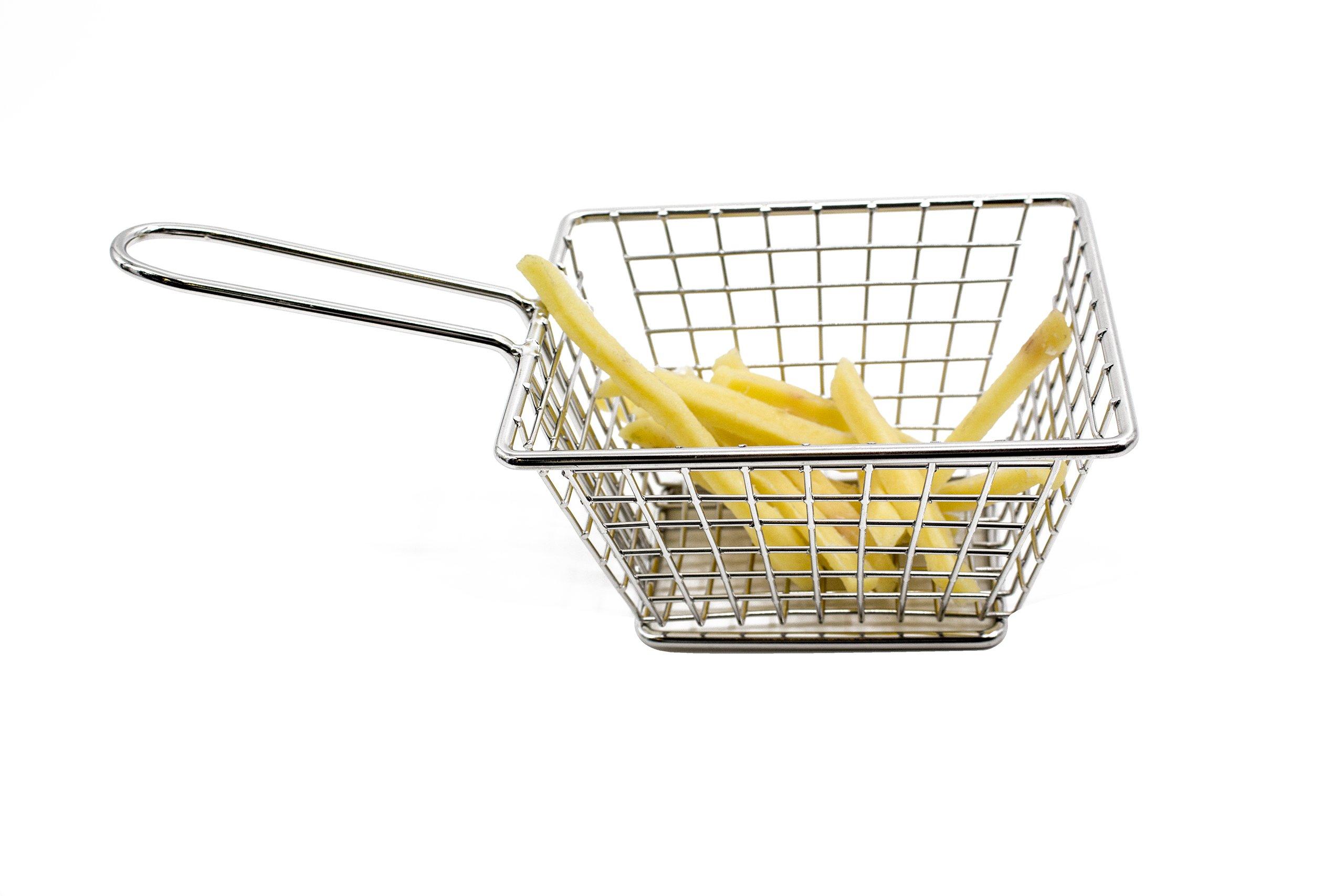 Baohao 304 stainless steel basket Fried chicken basket + V1 5.04''x4.02''x2.95''