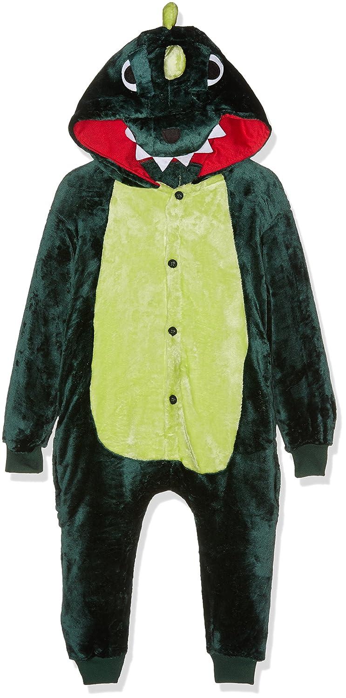 Kigurumi Unisex-Kids Costume Cosplay Halloween E Pigiama-Green Dragon Pyjama Set