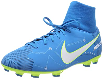 9e13d0633 Image Unavailable. Image not available for. Color  NIke Neymar JR Mercurial  Victory 6 DF FG Soccer Cleats- Blue ...