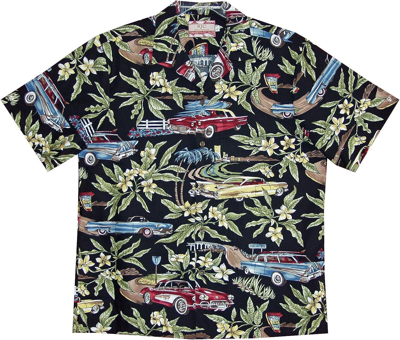1950s Automobilia Mens Hawaiian Aloha Cotton Shirt