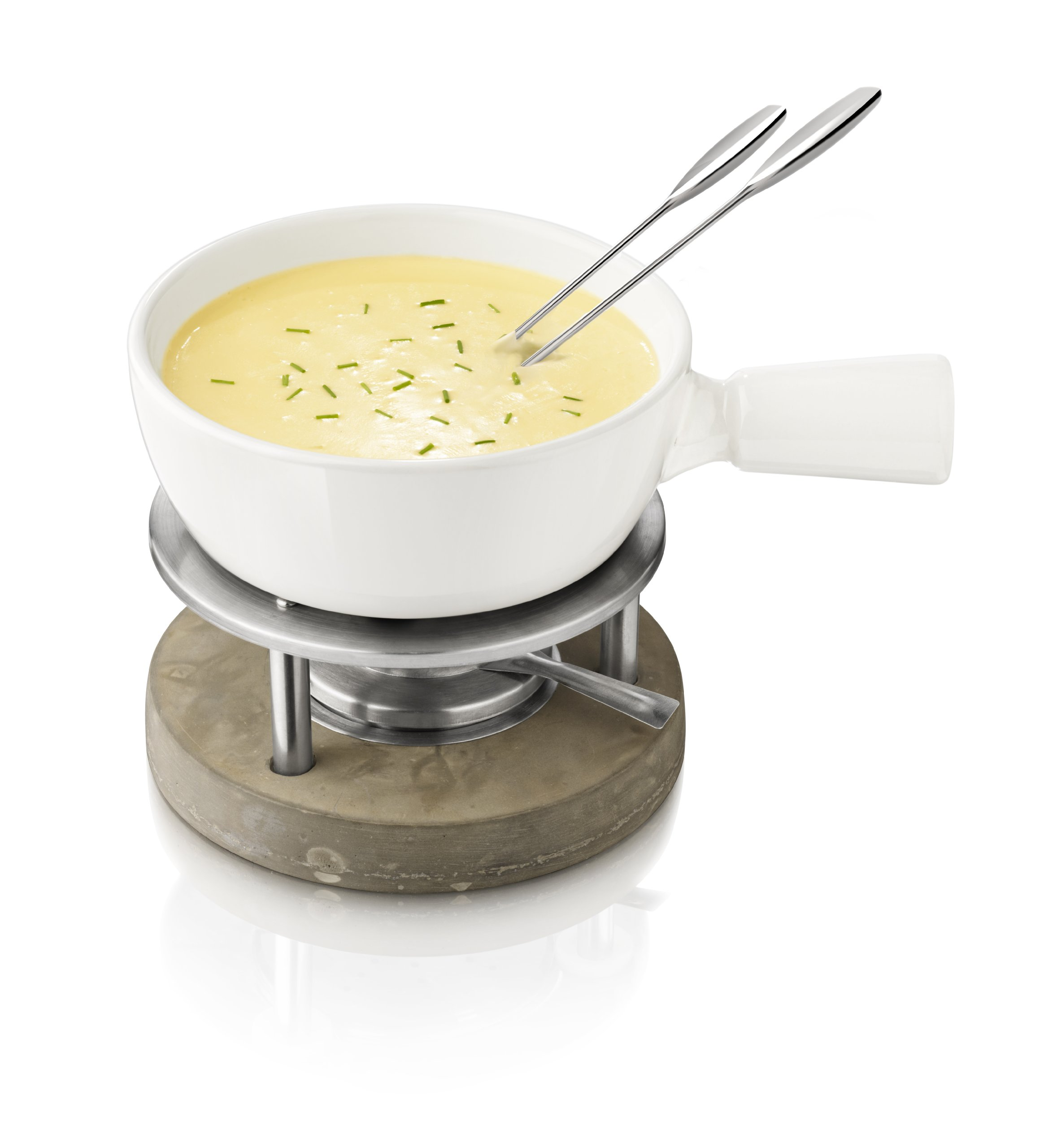 Boska Holland 340001 Concrete White Fondue Pot 1 Liter