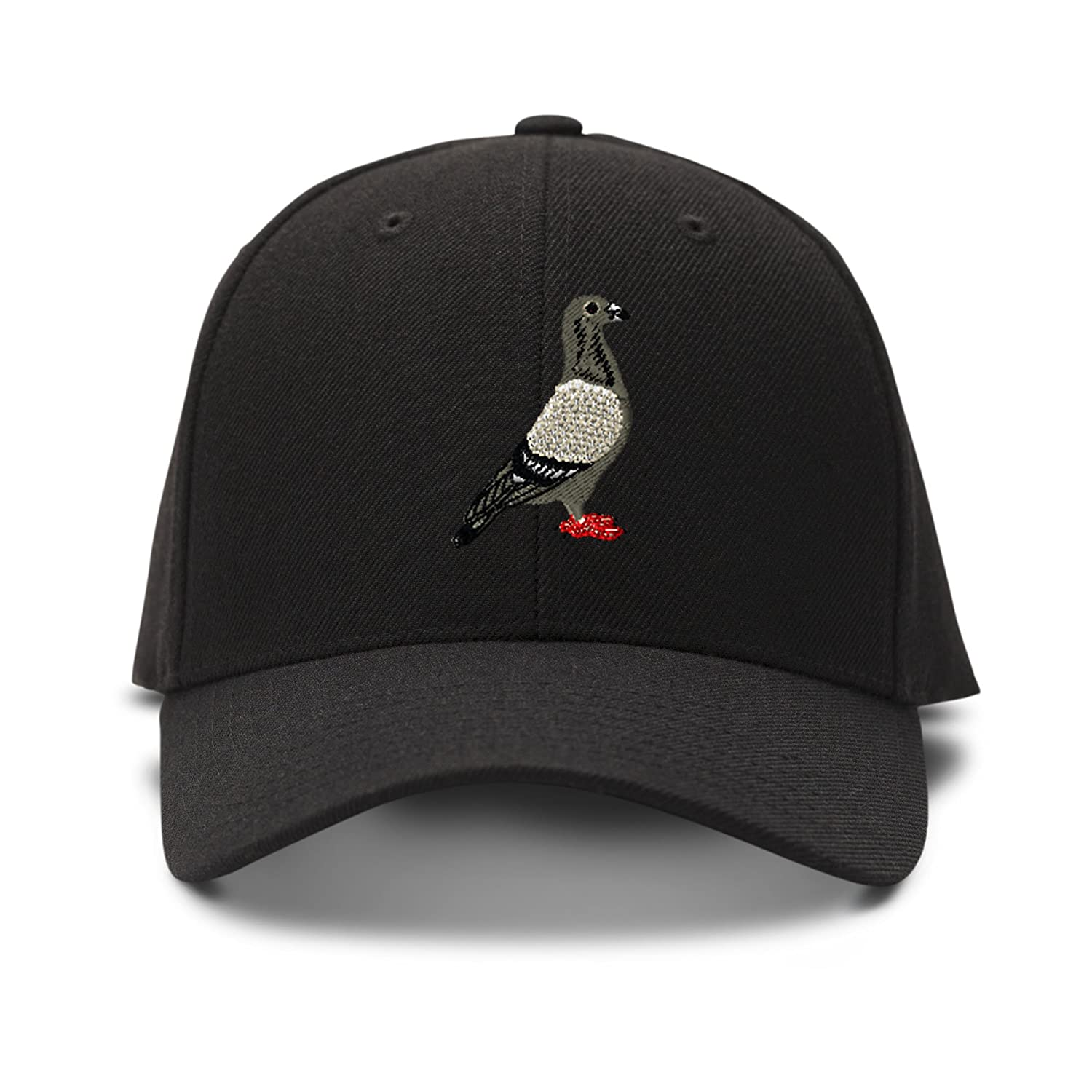 679bd97d8b7 Pigeon embroidery adjustable structured baseball hat black clothing jpg  1500x1500 Pigeon cap