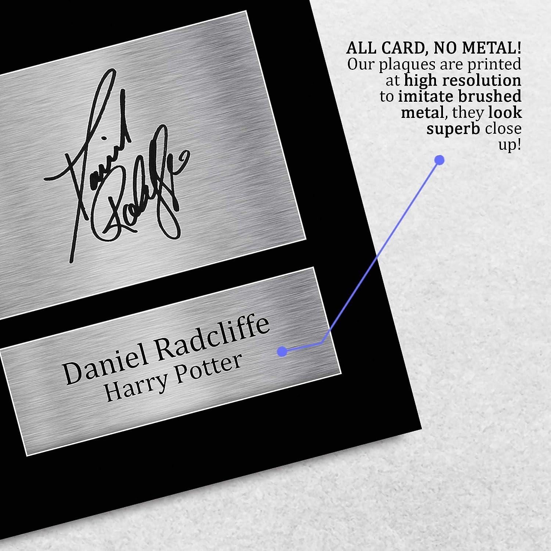 HWC Trading Daniel Radcliffe A4 Sin Marco Regalo De Visualización De Fotos De Impresión De Imagen Impresa Autógrafo Firmado por Harry Potter Los ...