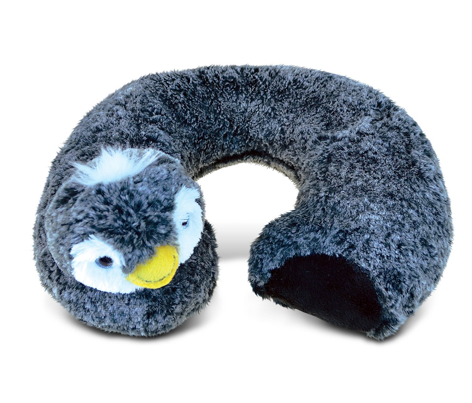 Puzzled Penguin Super-Soft Stuffed Plush Travel Neck Pillow Cuddly Animal - Animals / Birds/ Ocean Theme - 11 INCH - Great head Support - Item #5792