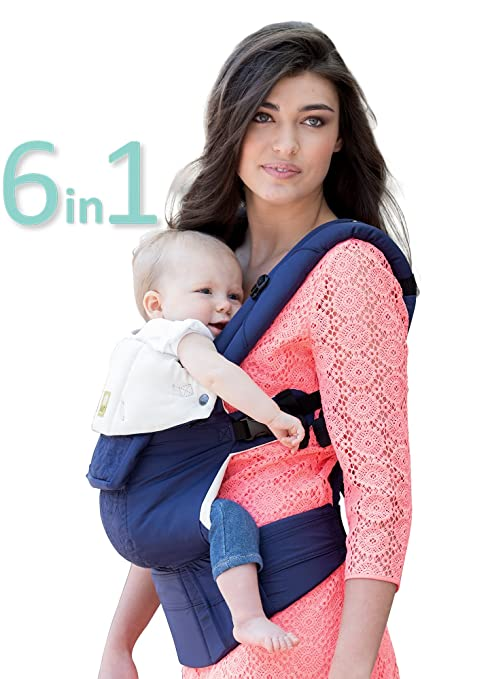 LÍllÉbaby The Complete Embossed Six Position 360° Ergonomic Baby & Child Carrier, Blue   Baby Carrier, Ergonomic Multi Position Carrying For Infants Babies Toddlers by Lill Ebaby