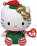 Ty Beanie Babies Hello Kitty - Green Christmas Outfit