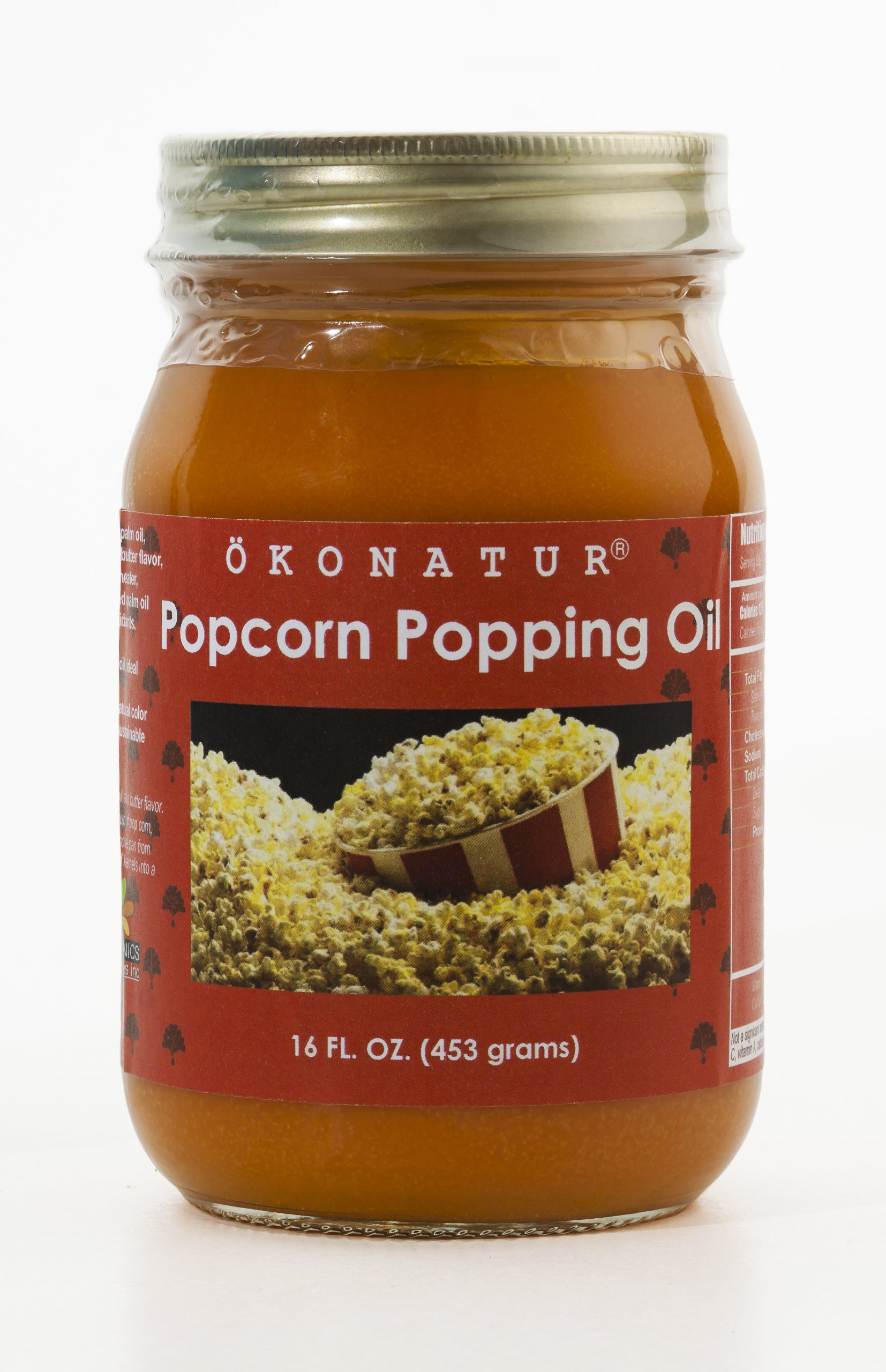 OKONATUR Popcorn Popping Oil - 16 oz