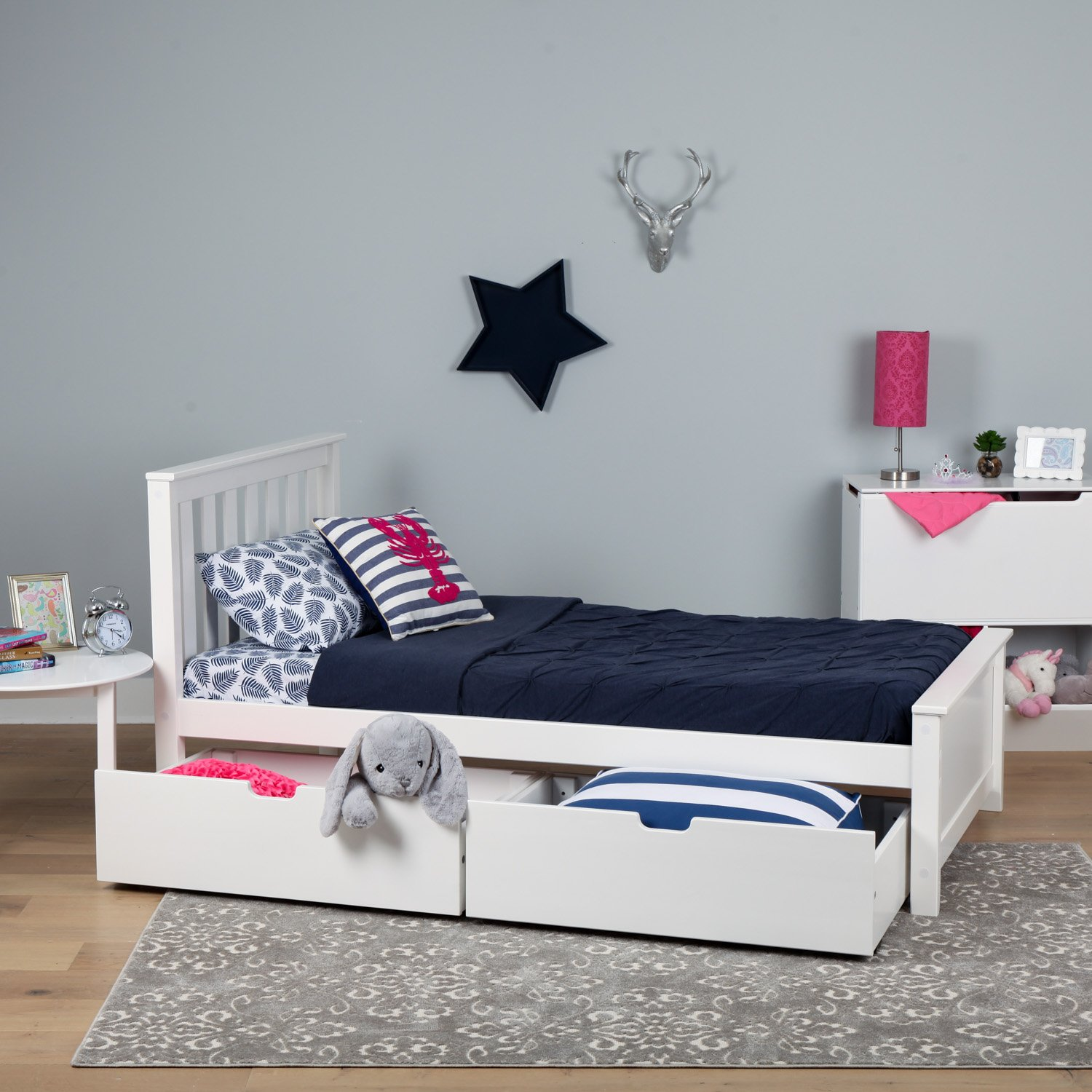 Amazoncom Max & Lily Solid Wood Twin Size Bed With Under