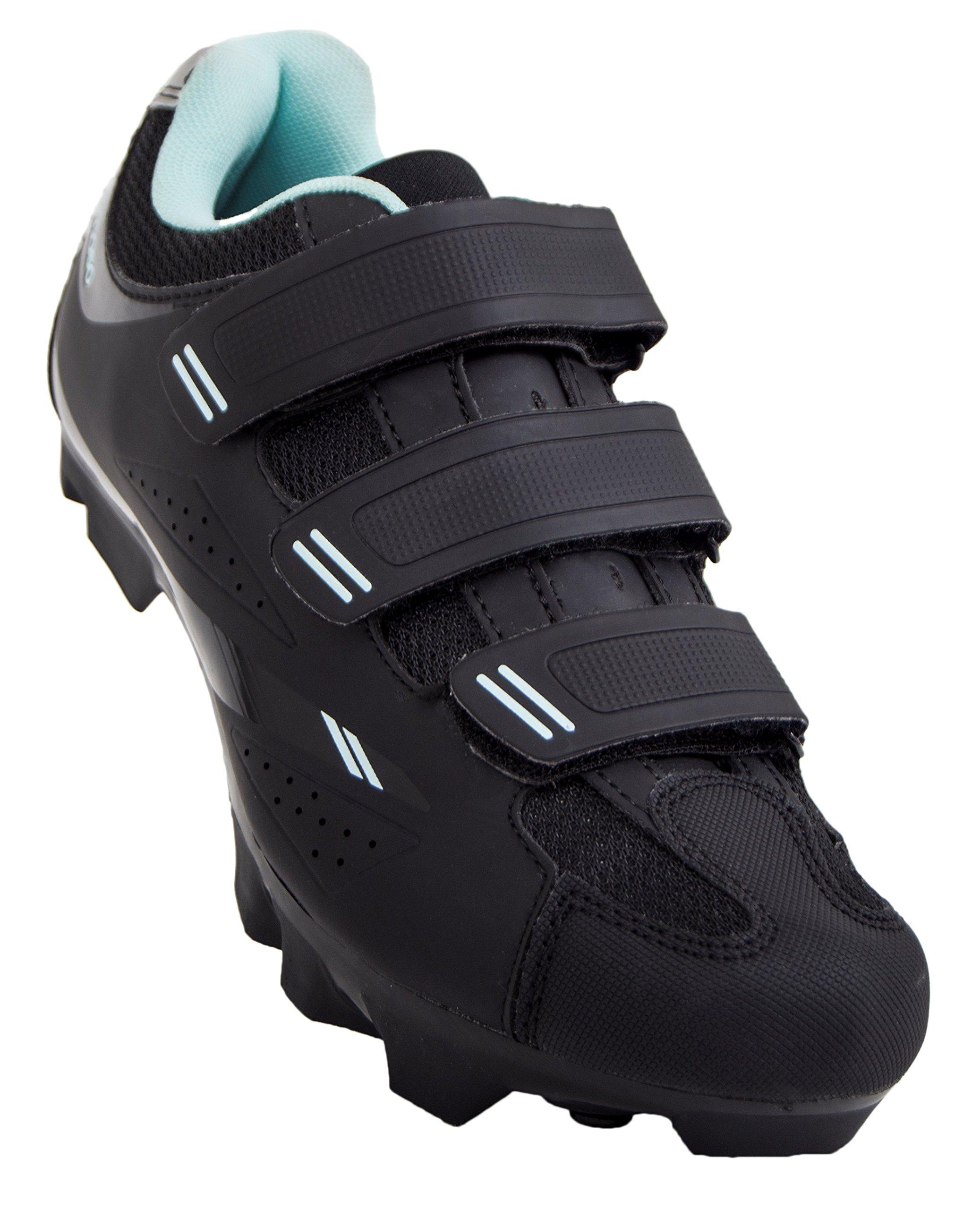 Tommaso Terra 100 Women's Mountain/Fitness SPD Biking Spin Shoe - Black/Teal - 40